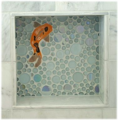 Decorative Porcelain Tile Glamorous Decorative Ceramic Tile Hand Made Tiles In Koi Tiles Goldfish Design Inspiration