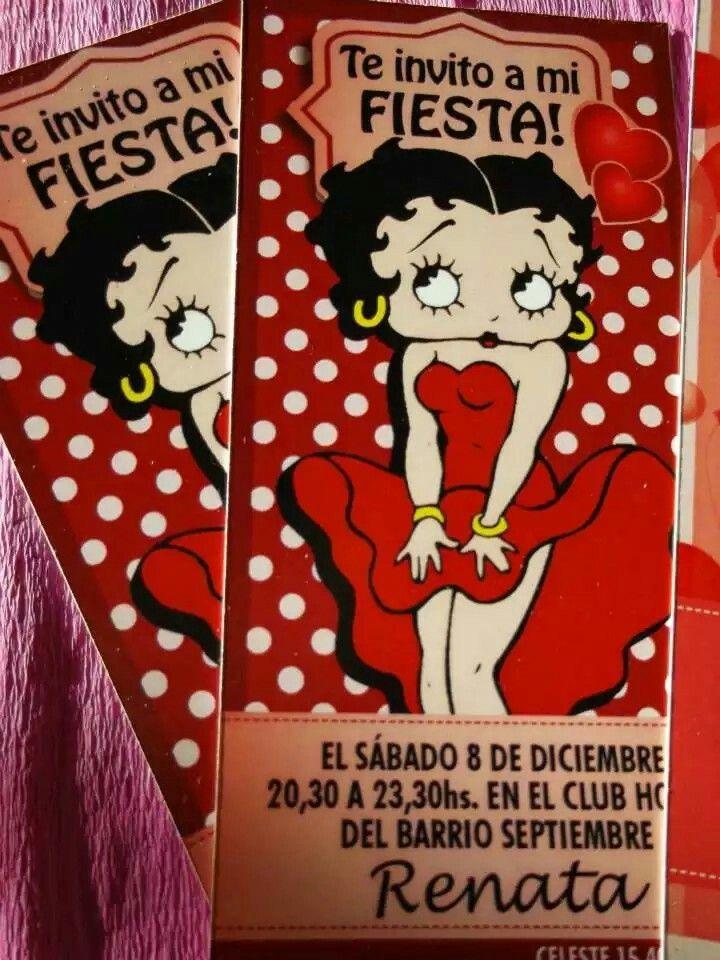 Invitación Betty Boop Invitaciones De Cumpleaños