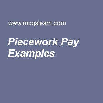 Piecework Pay Examples Human Resource Management Pinterest - human resource examples