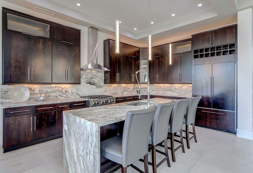What Is A Kitchen Island With Pictures: Beautiful Waterfall Kitchen Islands (Countertop Designs