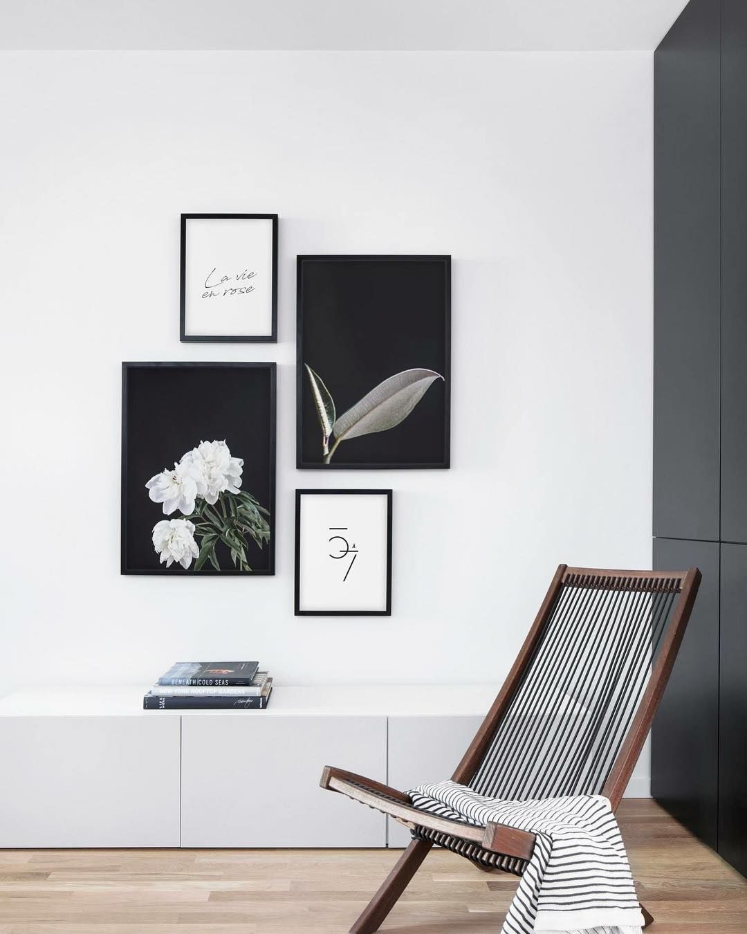 Trending Gallery Wall Tip Try Mixing Black And White Gallery