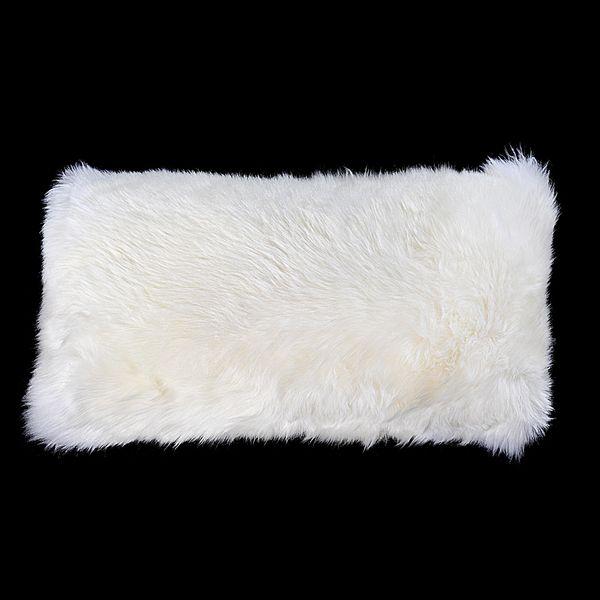 0f6a1f9b4672fc Almofada de Pelo de 2cm Branco 25x50cm | Objetos decoração. em 2019 ...