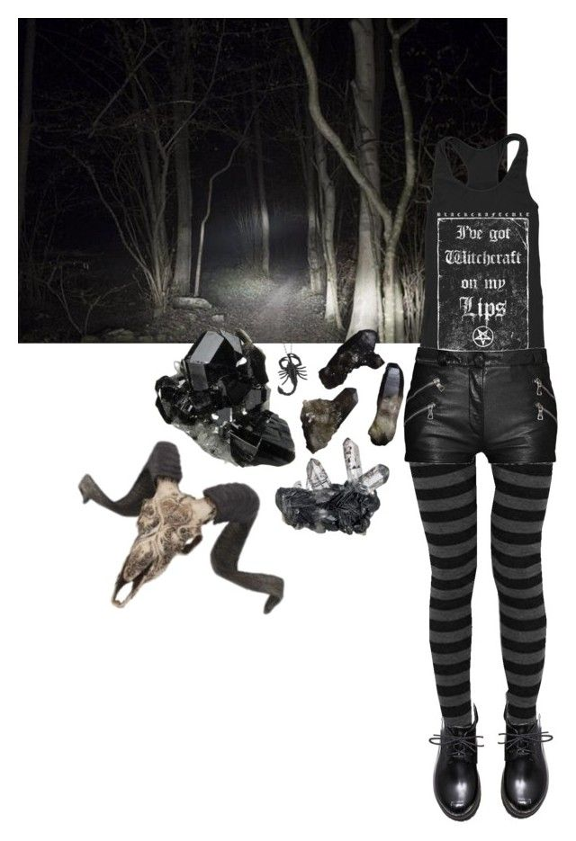 """""""witchcraft"""" by amerisal on Polyvore featuring Balmain, goth, gothgoth and clotheshavenogender"""