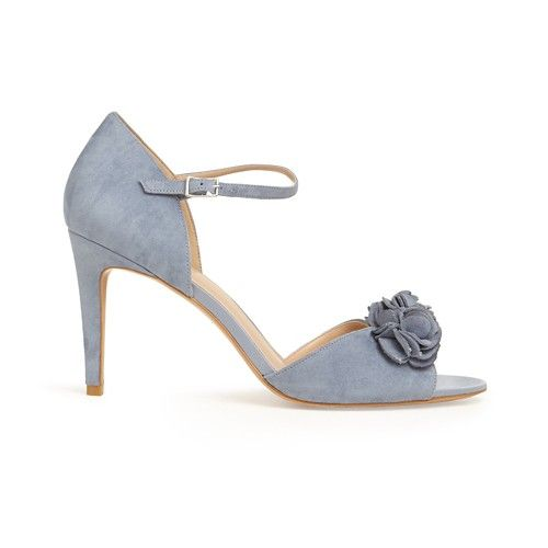 c62db1185d77 Phase Eight Blue louisa satin rose peep toe sandals
