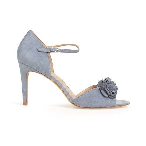 ea5eeda9318 Phase Eight Blue louisa satin rose peep toe sandals