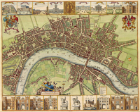 This Is A Really Old And Really Cool Historical Map Of The London - Old map shop london