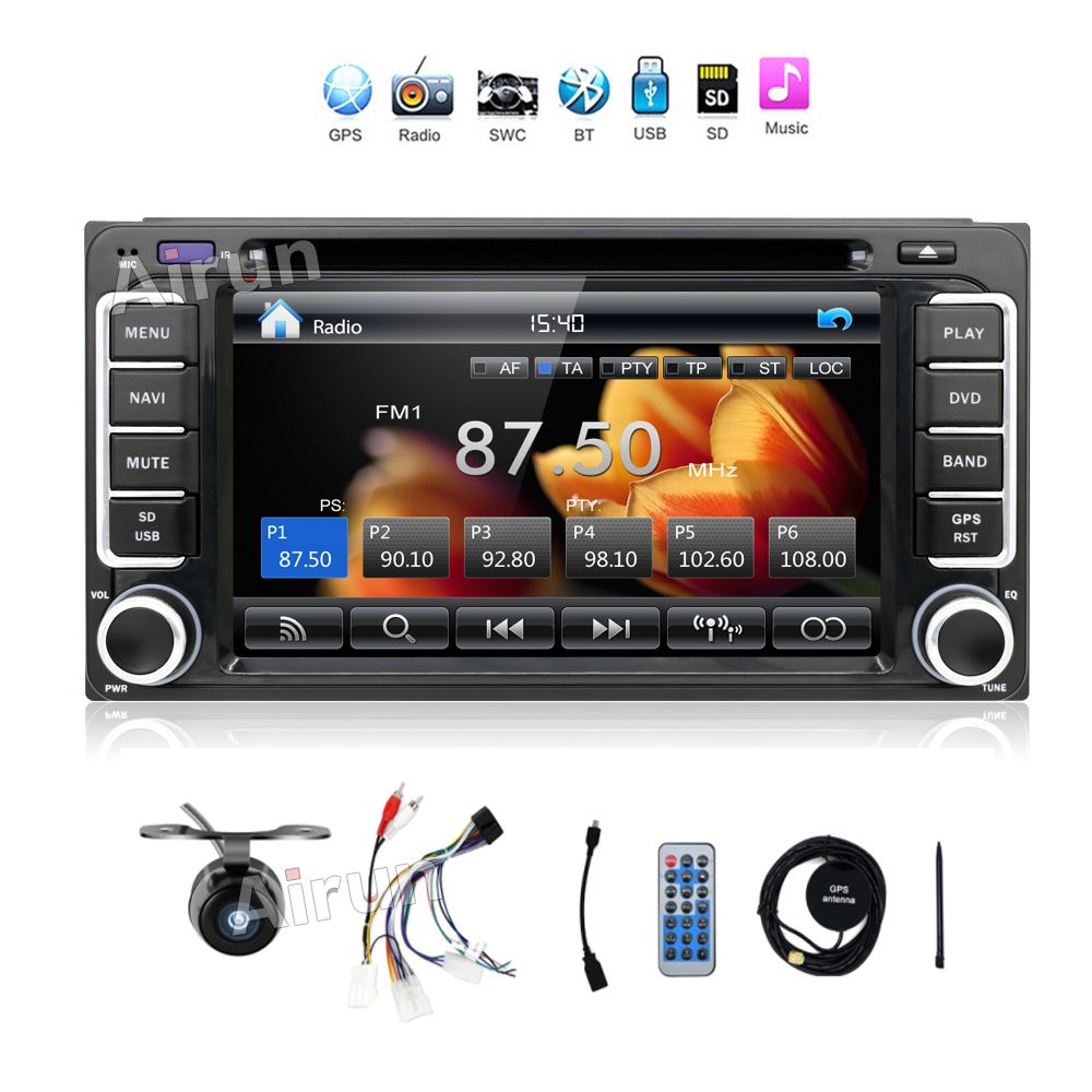 Quad Core Android 4 4 3G WIFI 7 Double 2DIN Car Radio Stereo MP5 Player w GPS