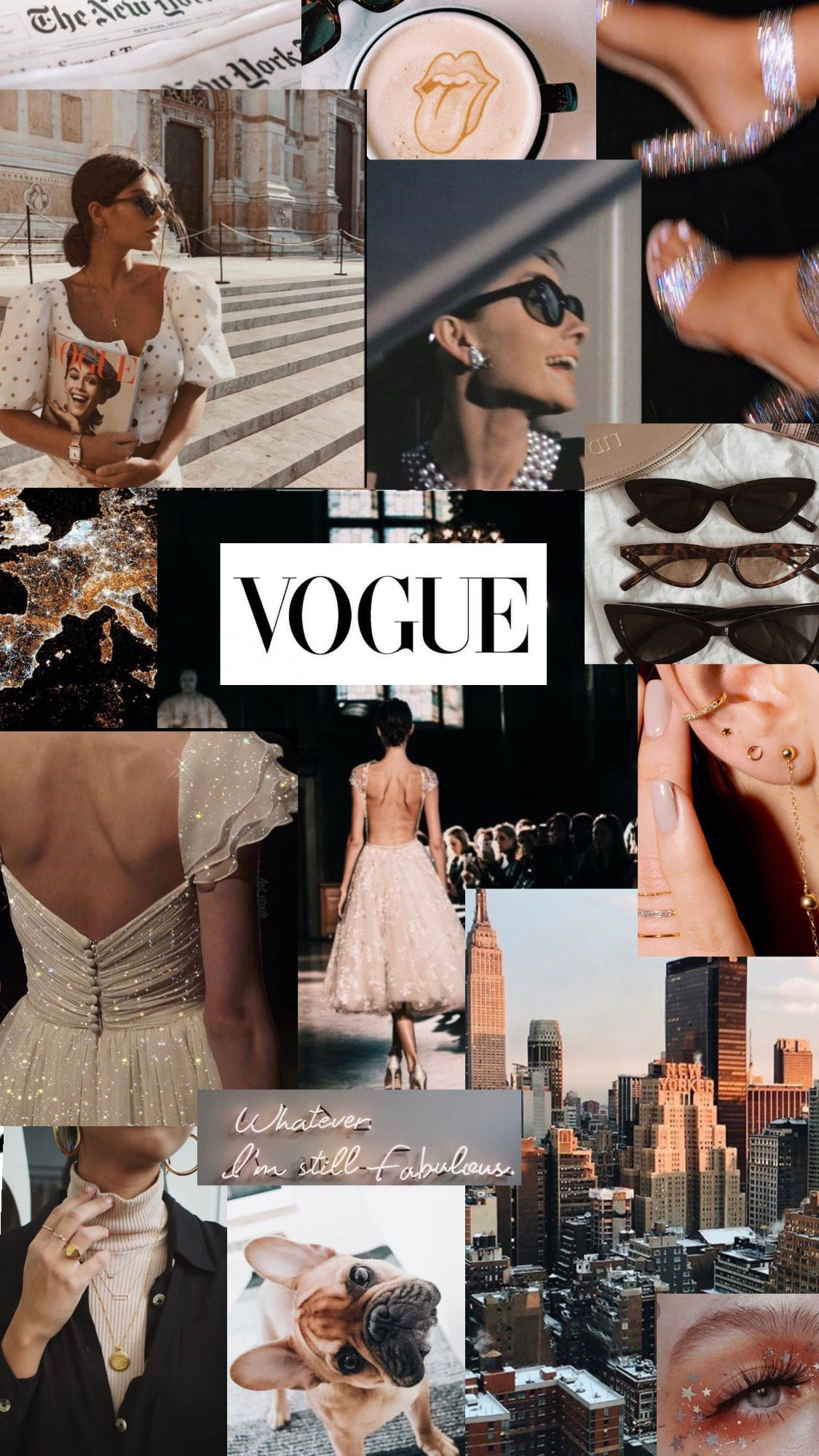 aesthetic collage wallpaper - Vogue Fashion World 2020-2021