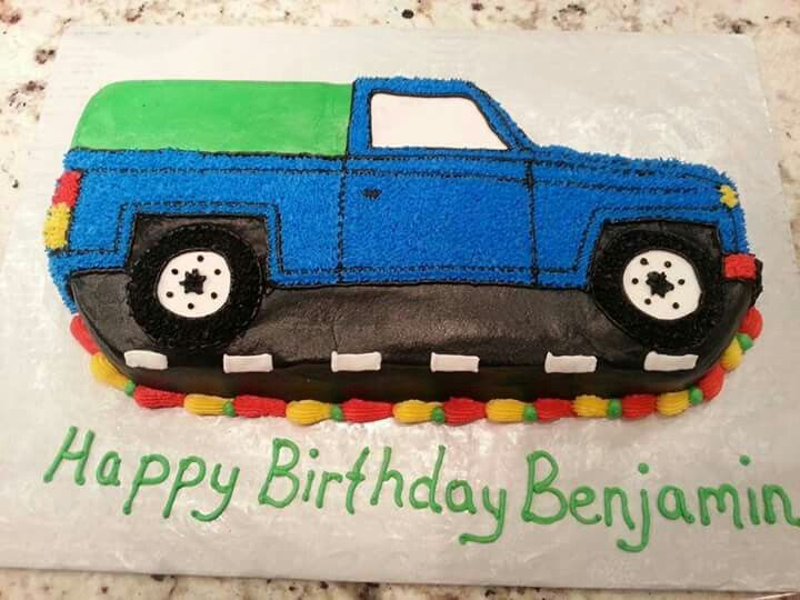 Pickup Truck With Images Truck Birthday Cakes Tractor Cake