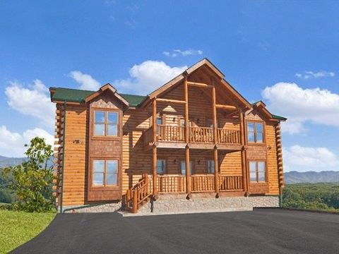 Cabin vacation rental in pigeon forge from for Big sky cabin rentals