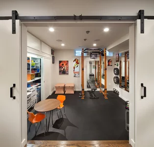 best of houzz award winners  gym room at home basement