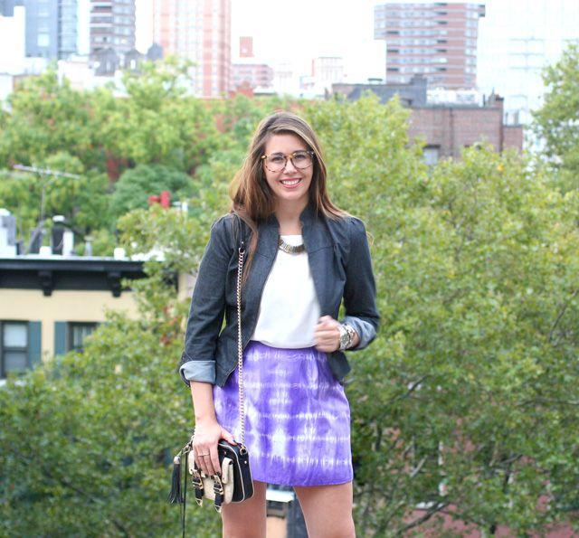 Fun tie dyed skirt by I Spy DIY