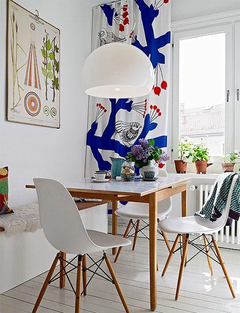 Sinivalkoinen Keittio Scandinavian Dining Room Beautiful Dining Rooms Decor