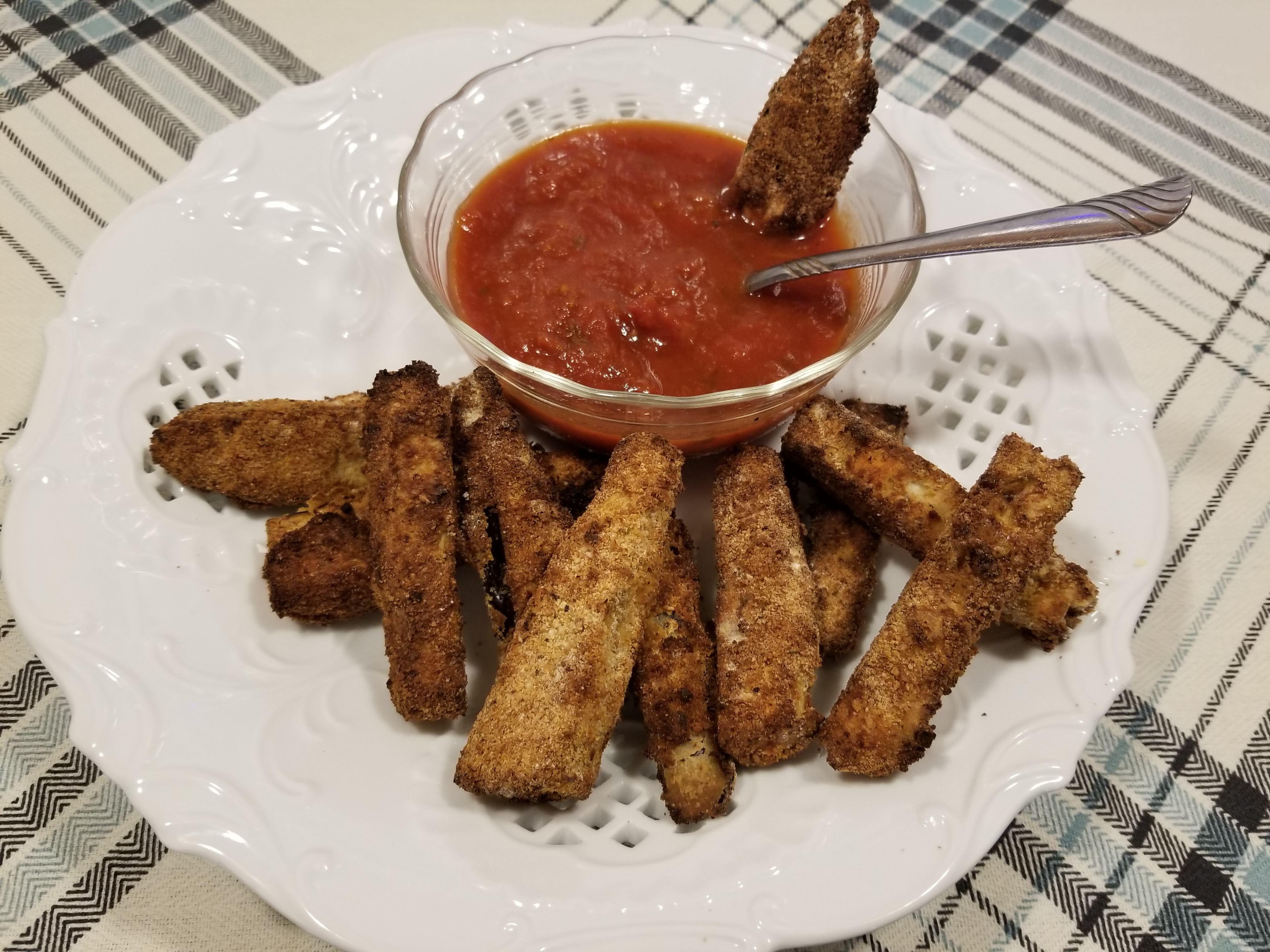 "Crispy eggplant ""fries"" Recipe Air fryer recipes, Food"