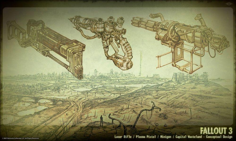 fallout 3 weapons concept art fallout misc pinterest weapon