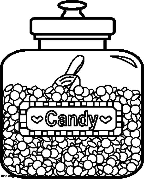 Delicious Candy Jar Coloring Pages Bulk Color In 2020 Candy Coloring Pages Free Printable Coloring Pages Food Coloring Pages