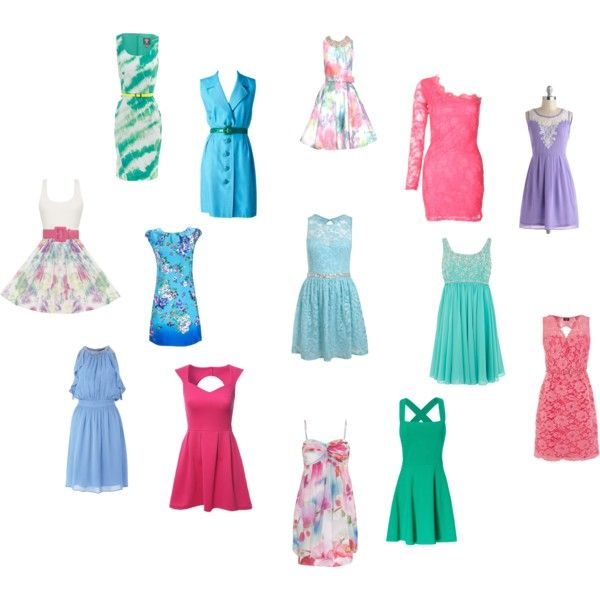 Light Summer Dresses For Various Kibbe Types By Tinabee 1 On Polyvore Featuring Jane Norman Miss Selfridge Coast Alice Olivia Oasis