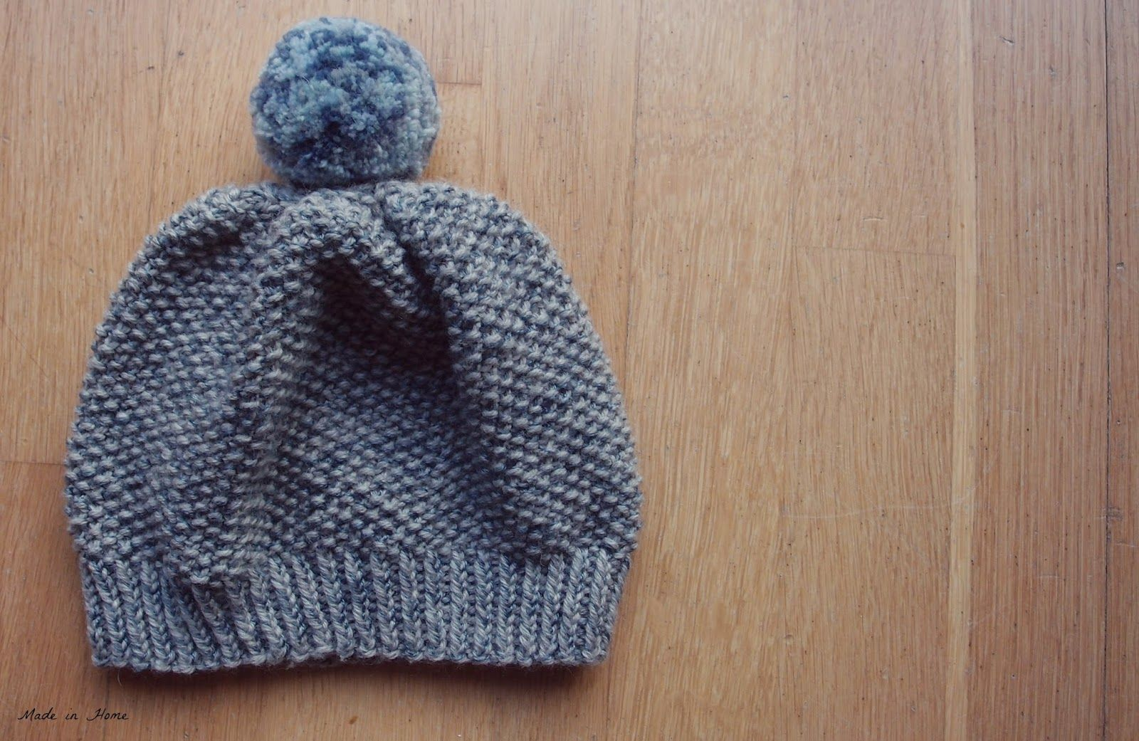 Made in Home: Toddler Pompom Beanie Hat | A free pattern {Knitting ...