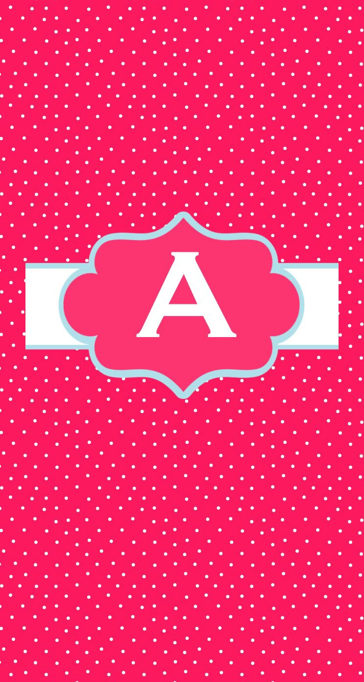 Pink monogram A Monogram wallpaper, Wallpaper iphone