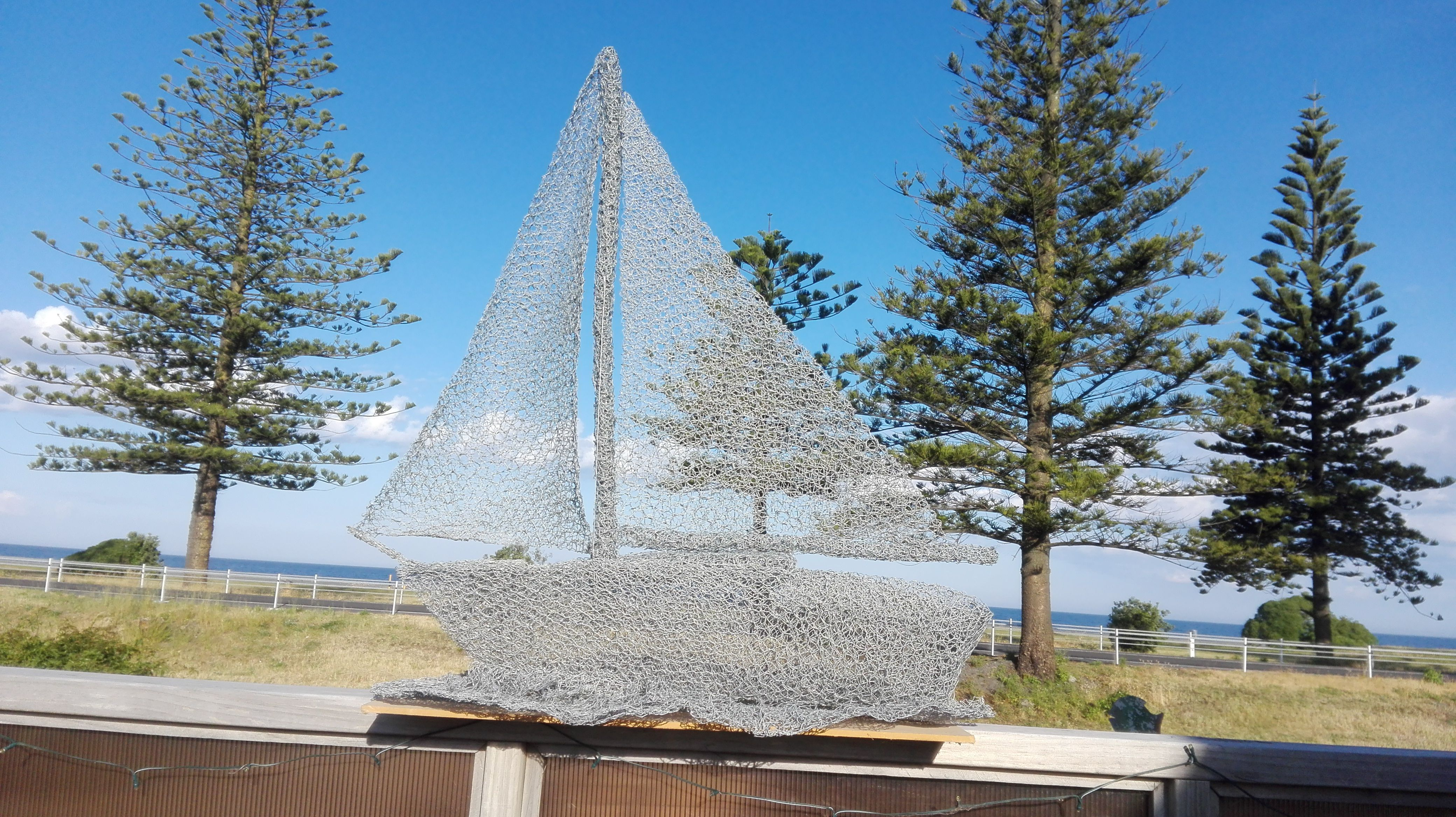 Chicken wire Yacht / /Sailing boat | I have made: Trademe - jallen2 ...
