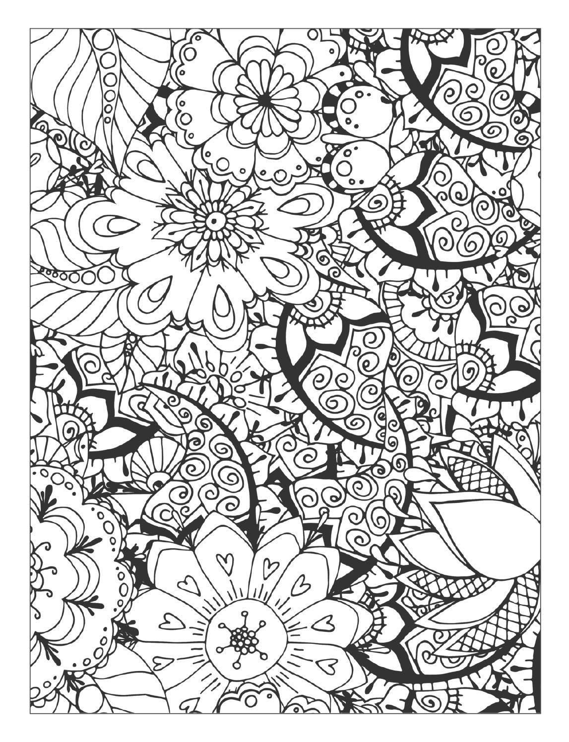 - Beautiful Flowers Detailed Floral Designs Coloring Book - Preview