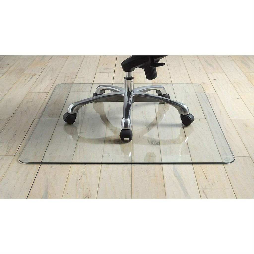Heavy Duty 36 Inch Tempered Glass Chair Mat In 2020 Chair Mats Heavy Duty Chairs Glass Chair