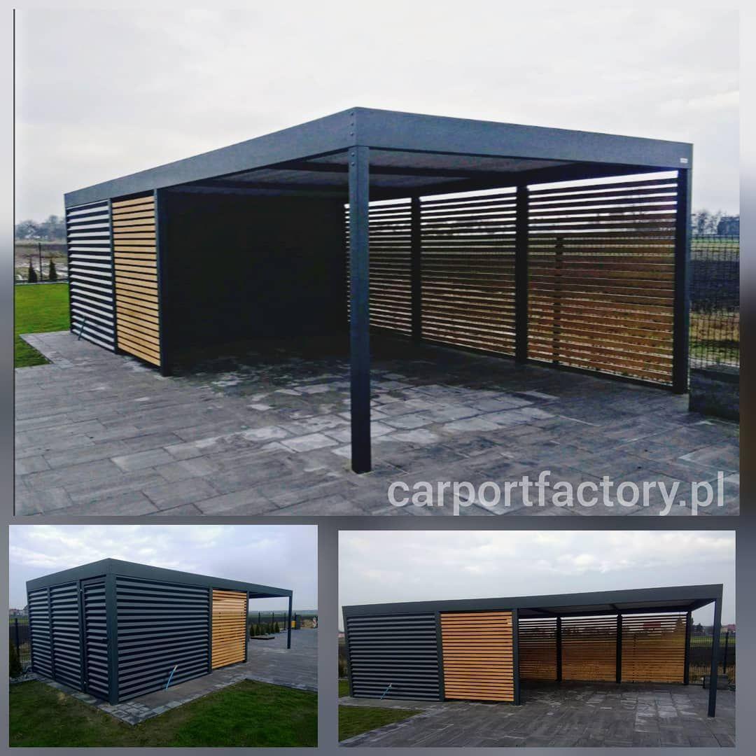 Pin By Cristina Mccandless On Grarage Modern Carport Carport Designs Carport Garage