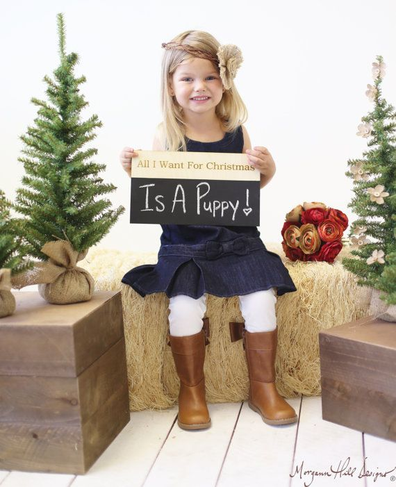 All I Want For Christmas Chalkboard Sign Family by braggingbags