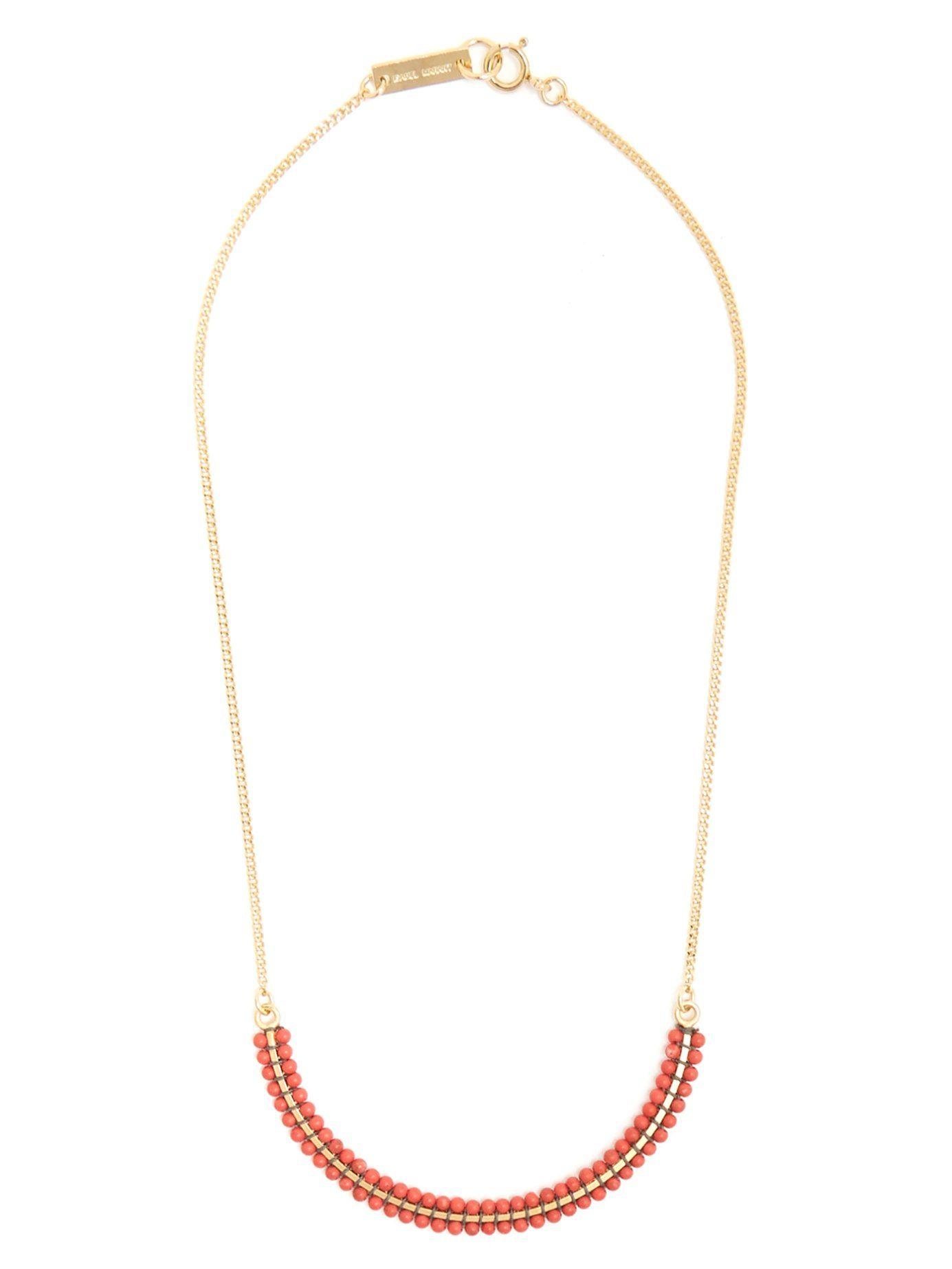 Isabel Marant Perky Ras de Cou beaded necklace 4u5gF9D6