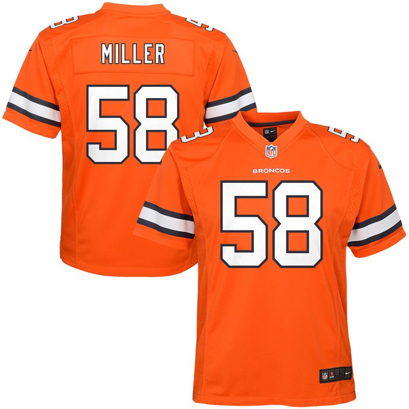 cbb23e740 Von Miller Denver Broncos Nike Youth Color Rush Game Jersey - Orange ...