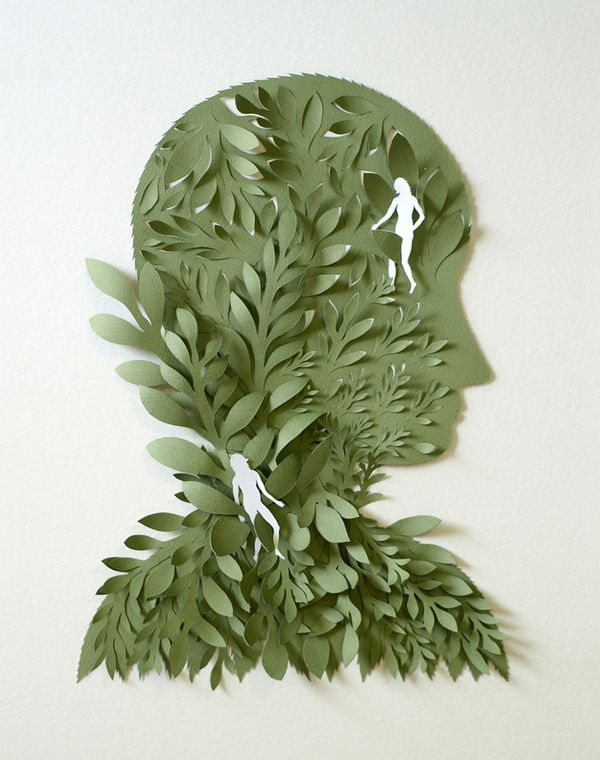 Illustration / Cut Paper Sculptures and Illustrations by Elsa Mora