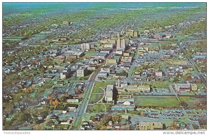 Flint Mich Aerial View 1968 Old Flint Michigan Pinterest