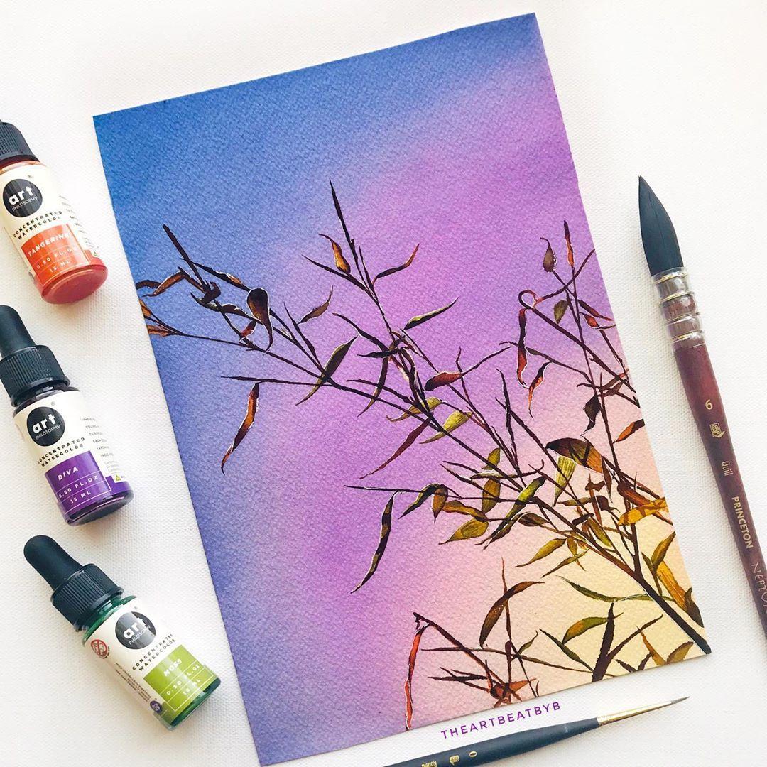 Liquid Watercolors Just Blend So Well Floral Prints Art Watercolor Flower Art Painting