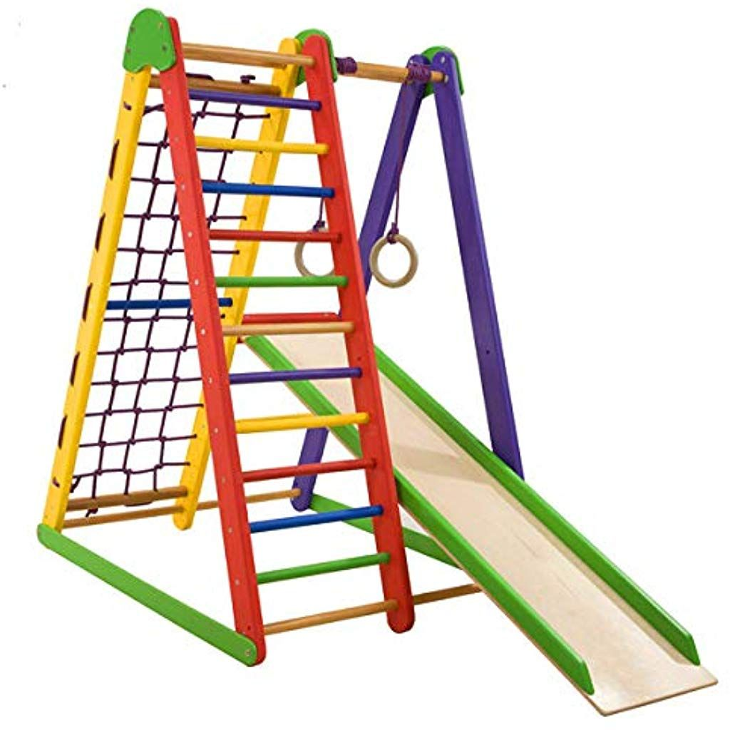 BARRE di muro casa palestra per bambini da ginnastica Arrampicata svedese scaletta in legno Parco Giochi