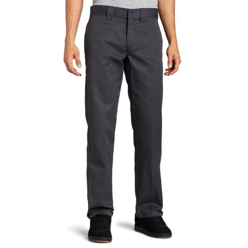 Dickies 873 charcoal slim fit straight leg work pant