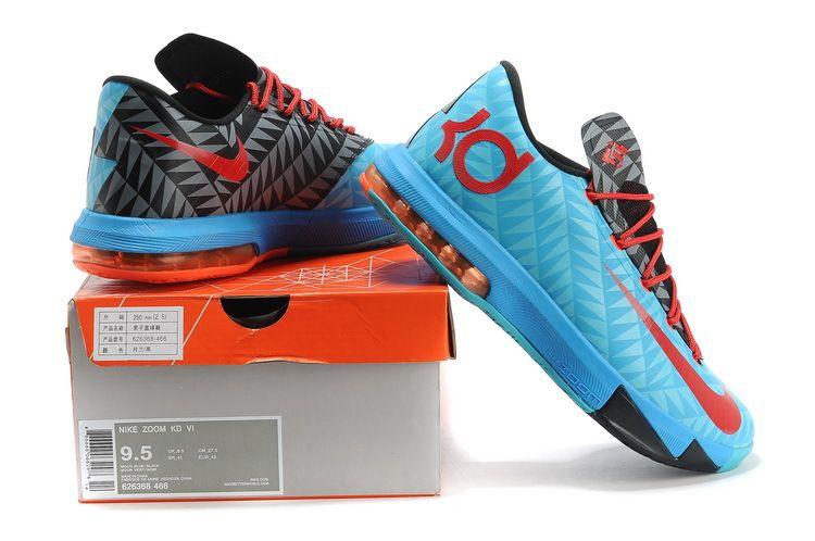 100% authentic 802ee 82a50 626368-466 Nike KD VI N7 Dark Turquoise University Red-Black