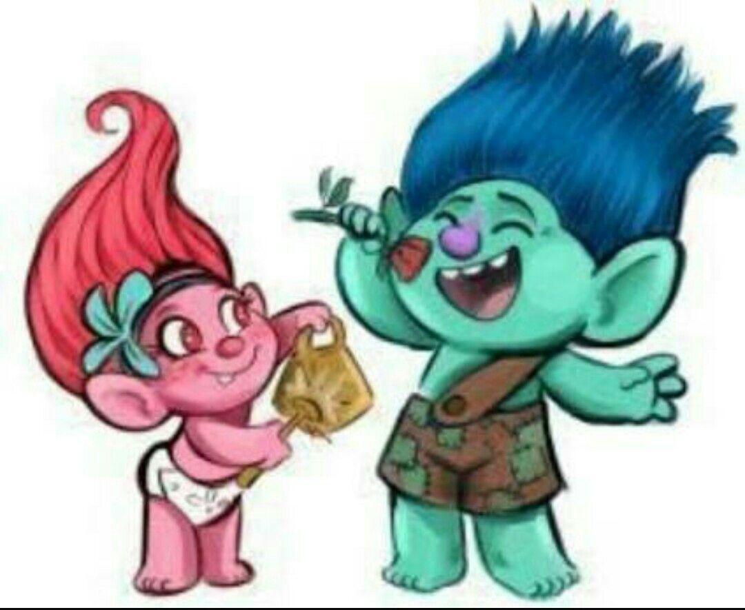 Trolls baby poppy. Branch and troll face