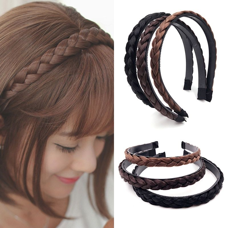 Bohemian Wig Braid Natural Hair Thick Headband Wide Plait Boho Fashion Hairpiece