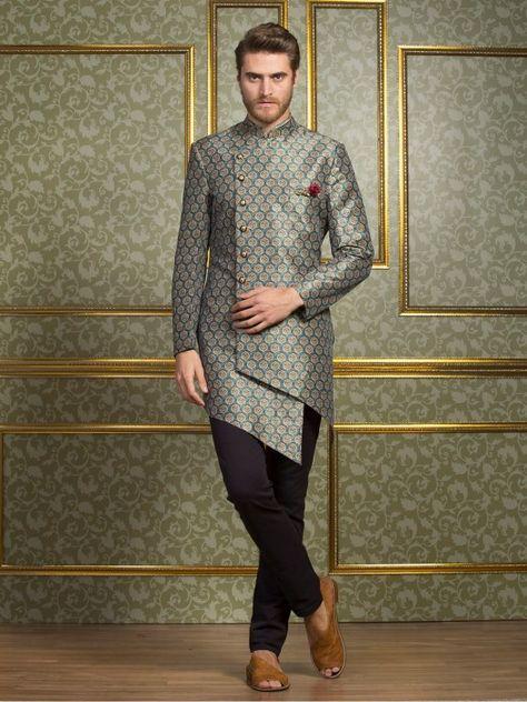 Festive Function Blue Indo Western Mens Fashion Fashion For Men