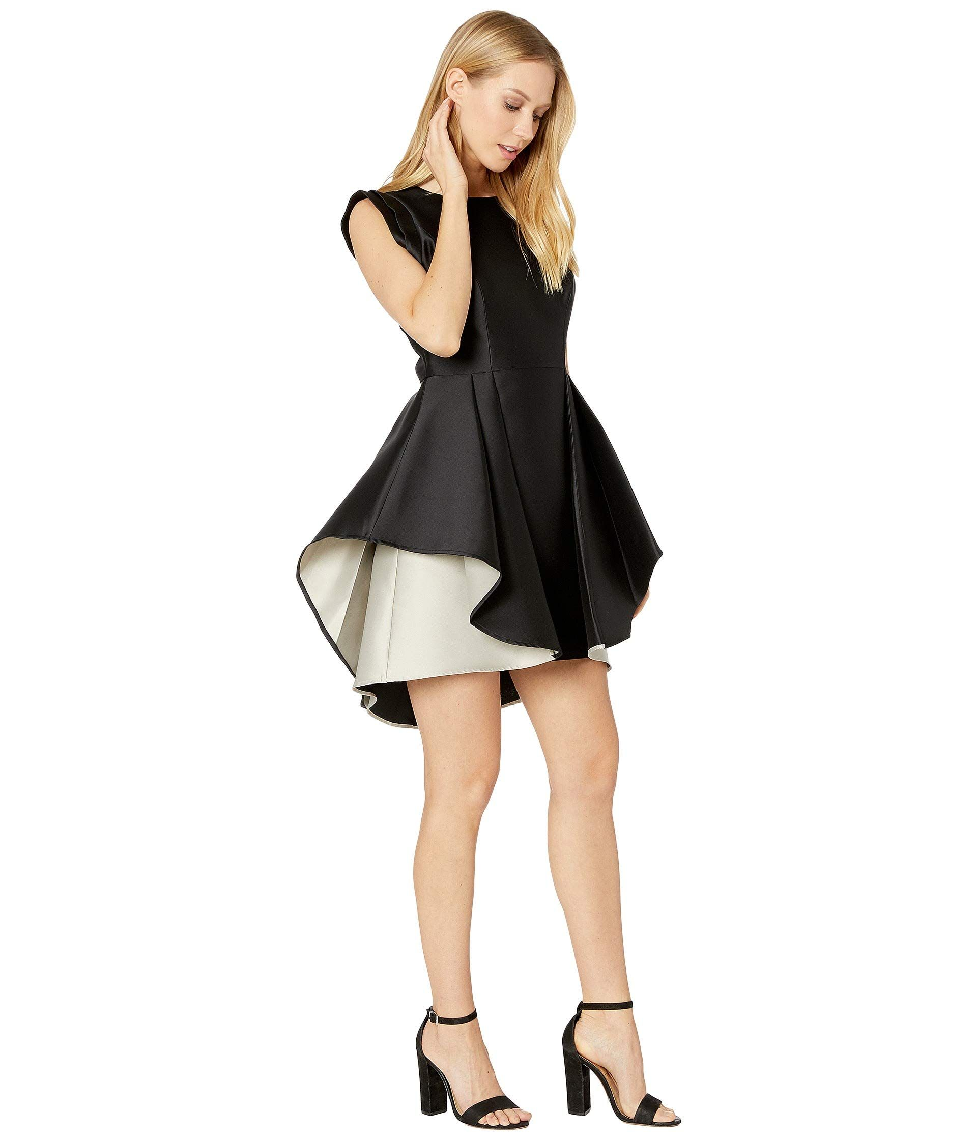 Halston Heritage Womens Structured Cap Sleeve Fit And Flare Dress Black Champagne 6 Visit The Image Link More Det Womens Dresses Fit And Flare Dress Dresses [ 2240 x 1920 Pixel ]