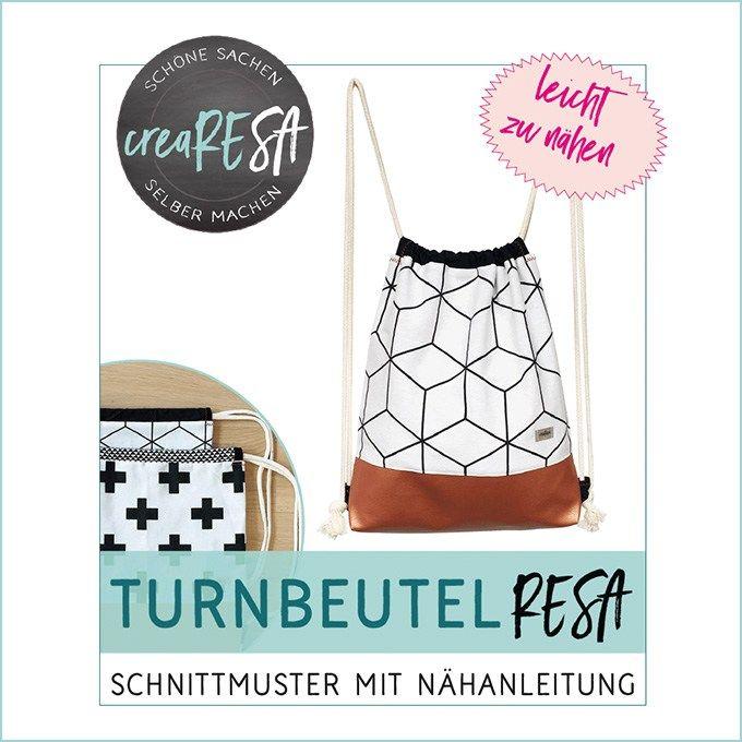 Turnbeutel Resa – Schnittmuster im Shop   nähen   Pinterest