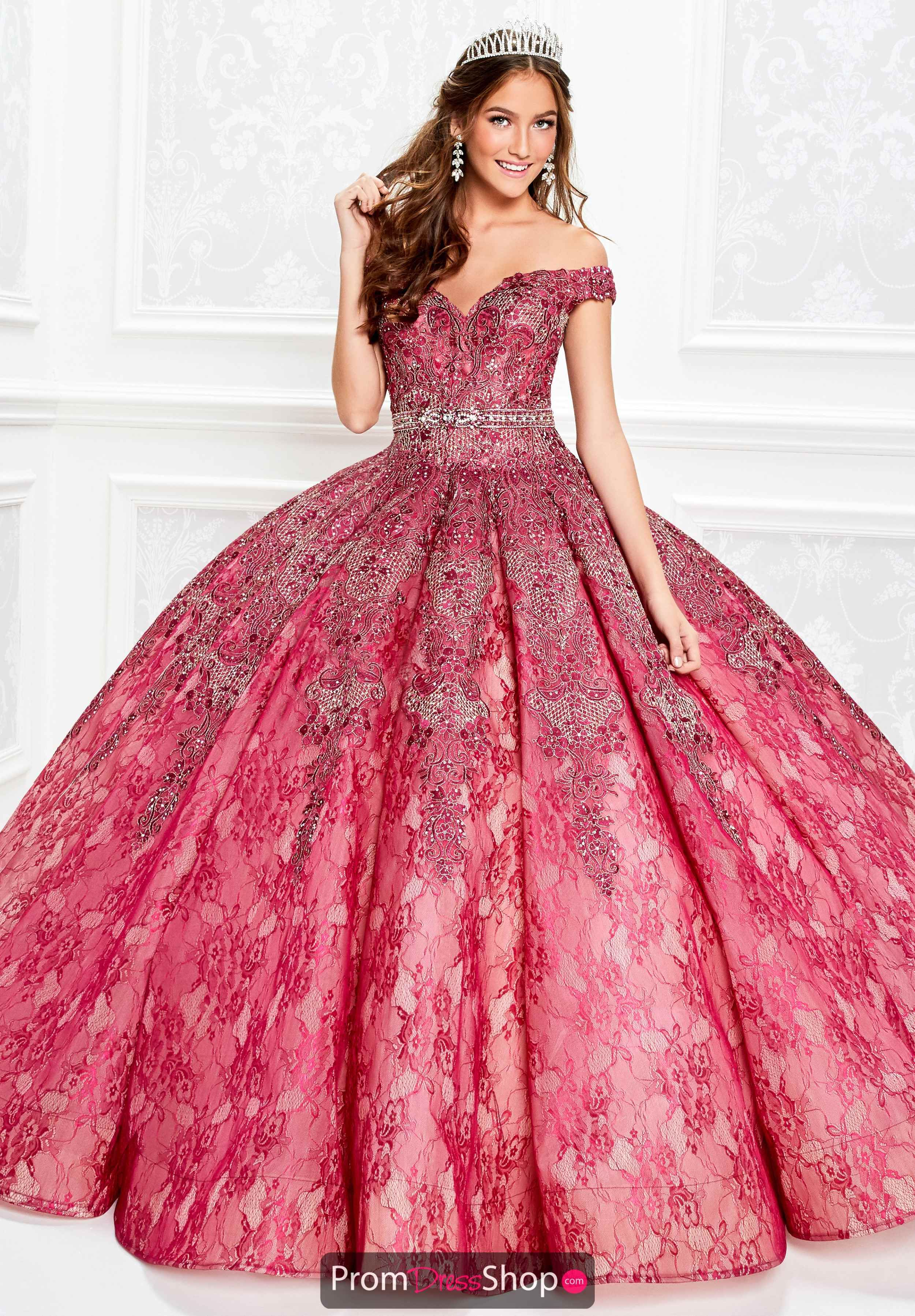 0fd0756419 Princesa Off the Shoulder Ball Gown PR11921 in 2019