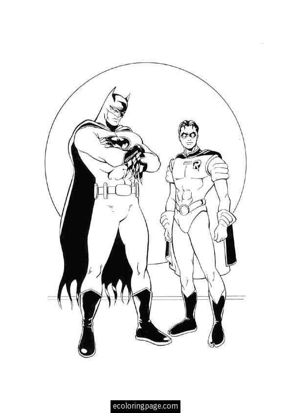 batman-and-robin-coloring-page-printable | Printable Kids Coloring ...