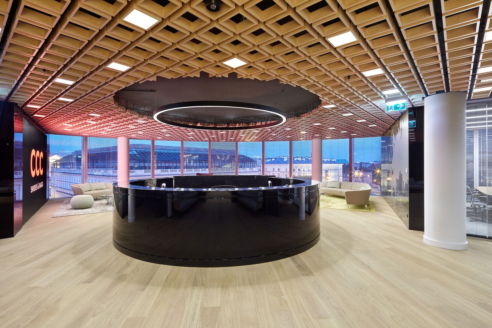 Office tour: ccc shoes and bags offices u2013 warsaw תיקרה pinterest