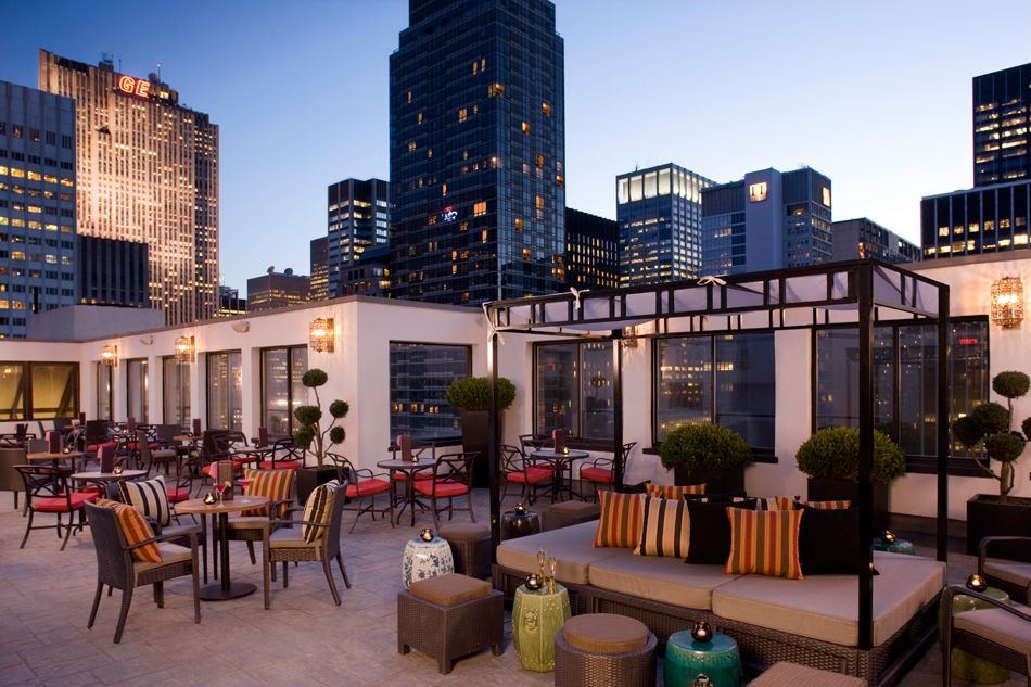Summer is bringing outdoor movies to high end hotel lounges The