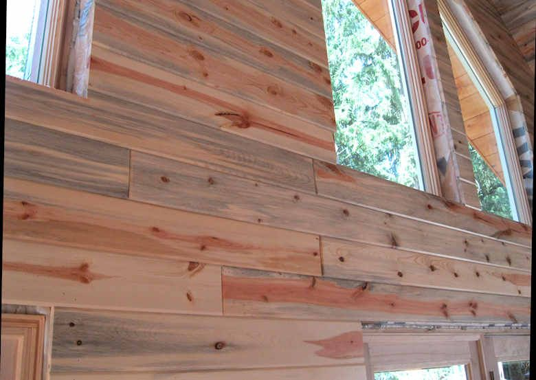Blue Stain Pine Paneling Tiny House Dream In 2019