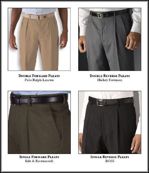Flat-front vs. single pleats vs. double pleats on dress pants ...