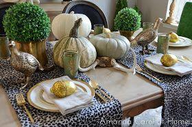 Amanda Carol at Home: Fall 2012 Tablescape