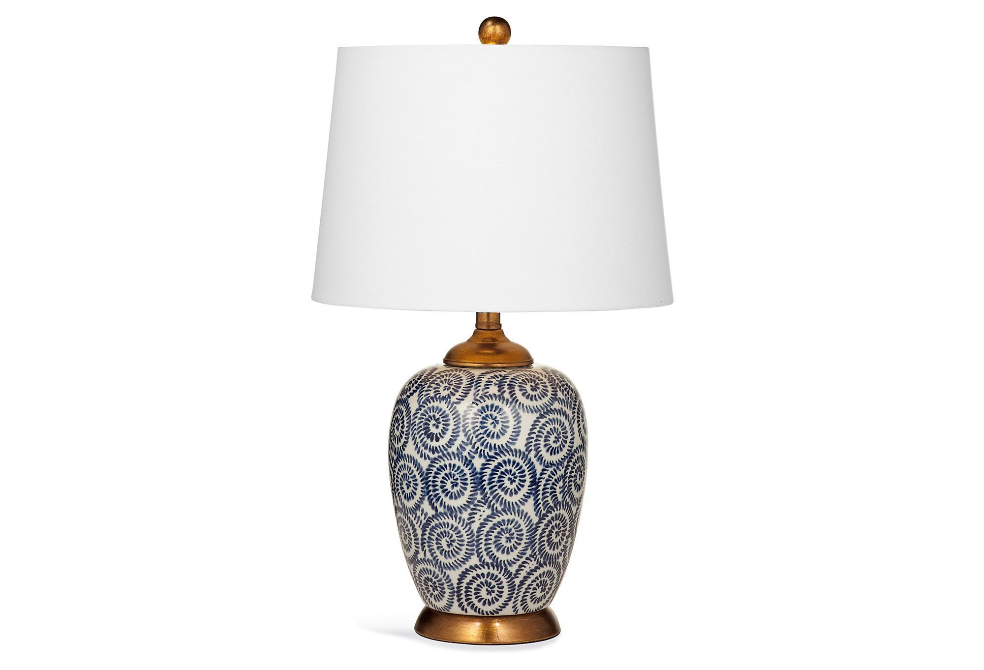 Mui Table Lamp Navy White Lighting By Bassett One Kings Lane Small Lamp Shades Antique Lamp Shades Lamp