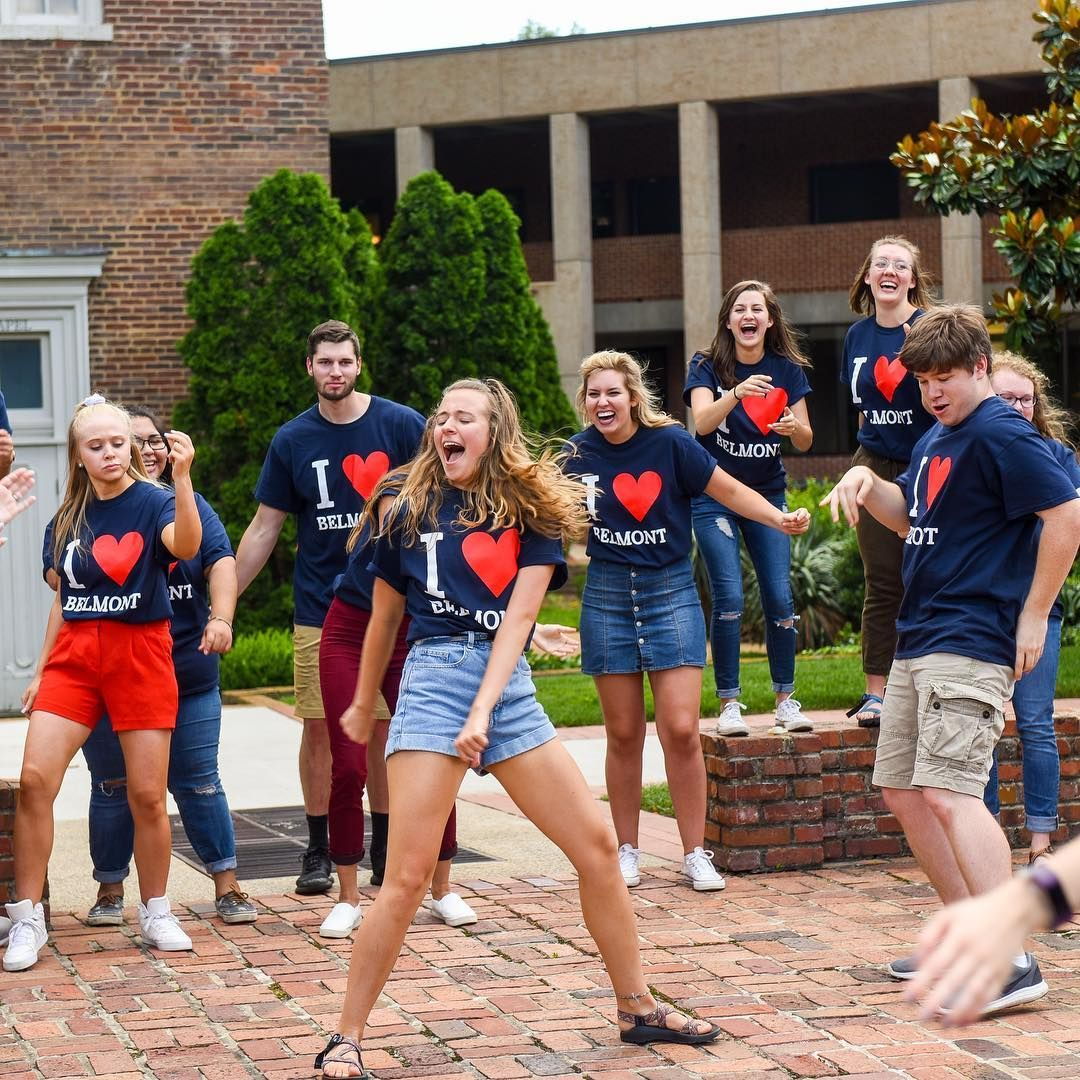 The summer orientation staff at belmont are having a blast